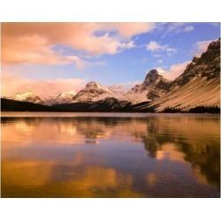 Posterazzi PDDCN01CGU0011 Bow Lake Banff Np Alberta Canada Poster Print by Charles Gurche - 19 x 15 in.