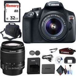 Canon EOS Rebel T6 DSLR Camera with 18-55mm Lens and Carrying Case and Cleaning Kit