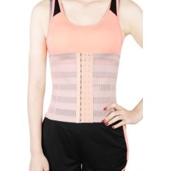 Skin Color L Size Breathable Elastic Postpartum Abdominal Shaping Belt Belly Wrapping Shaper Cincher Corset Shapewear