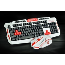 HK8100 Generic Multimedia 2.4GHz Wireless Pro Gaming Keyboard and Mouse Combo for Desktop PC Laptop