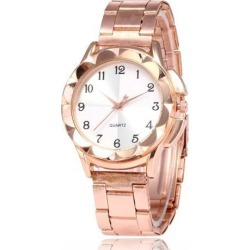 Women Fashion Simple Quartz Wrist Watch Exquisite Concise Style Double Color Dial Watch Rose gold white