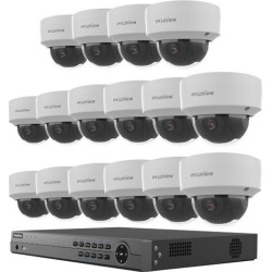 LaView 4MP 2688 x 1520P Full PoE IP Camera Security System, 16-channel H.265 NVR w/ 4K Output, 16 x 4MP Dome Full HD In / Outdoor IP Cameras (No HDD found on Bargain Bro India from Newegg for $1949.99