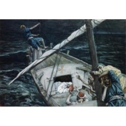 Posterazzi SAL9999101 Jesus Asleep During the Storm James Tissot 1836-1902 French Poster Print - 18 x 24 in.