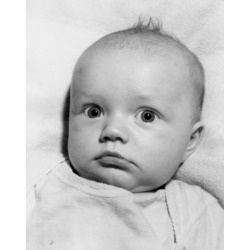 Posterazzi SAL2559370 Close Up of Baby Face Poster Print - 18 x 24 in.