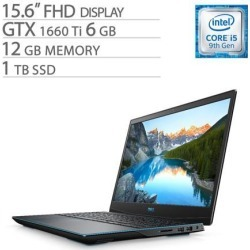 Dell G-Series 15 3590 15.6' FHD Gaming Laptop, Core i5-9300H, GTX 1660 Ti 6GB GDDR6, 12GB RAM, 1TB SSD, Quad-Core up to 4.10 GHz, RJ-45 LAN.