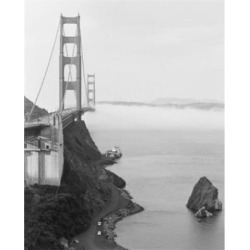 Usa, California, San Francisco, Golden Gate Bridge, fog bank beneath Poster Print (18 x 24)