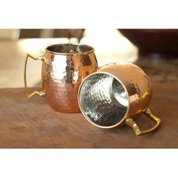 2 Pieces Stainless Steel Moscow Mule Hot Drink Coffee Chocolate Tea Mug