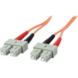 StarTech.com 50FIBPSCSC1 3.3 ft. OFNP Plenum Multimode 50/125 Duplex Fiber Patch Cable SC - SC