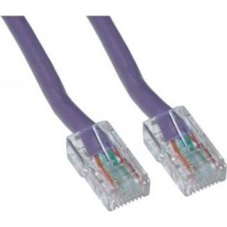 Cable Wholesale Cat 5E Purple Ethernet Patch Cable, Bootless, 10 Foot