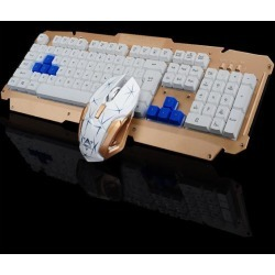 DOBACNER Wireless keyboard and mouse set metal keyboard wireless keyboard set