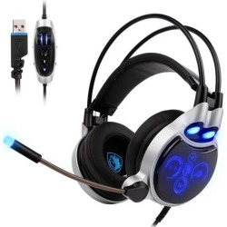 SA908 Physical 7.1 Surround Sound USB PC Gaming Headset 4D Extreme Bass