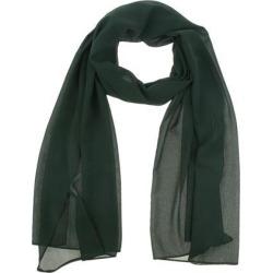 Women Solid Bubble Chiffon Scarf Muslim Hijabs Head Scarf Shawls Dark green
