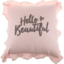 Stuffed Square Pillow Back Cushion Home +Heart Shape Cotton Pillow Pink