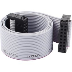 Unique Bargains IDC 16-Pin Female/Female Connector Motherboard Extension Flat Ribbon Cable 19'