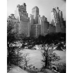 Posterazzi SAL25545295 Snow Covered Park in Front of Skyscrapers Central Park Manhattan New York City New York USA Poster Print - 18 x 24 in.