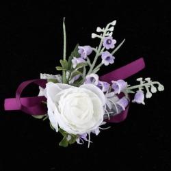 Wedding Flower Leaves Corsage Wrist Bracelet Hand Flower Party Supplier
