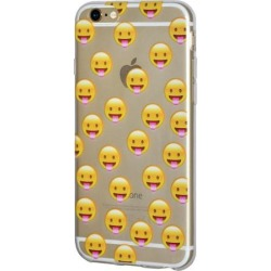 iPhone 6 Plus Case, Emoji Clear Desgin Printed Pattern Soft Skin Fit Clear Case for iPhone 6s Plus - Face With Stuck Out Tongue