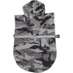 Pet Dog Raincoat Rain Jacket Clothes Pet Puppy Water-resistant Gray M