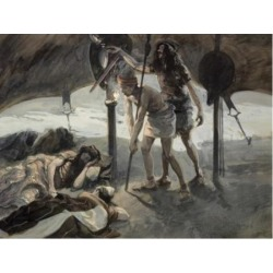 Posterazzi SAL999248 David Takes Sauls Spear & Water Bottle James Tissot 1836-1902 French Jewish Museum New York USA Poster Print - 18 x 24 in.