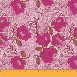 Soimoi 58 Inches Wide Decorative Floral Print Dressmaking Cotton Fabric For Sewing By The Meter 60 GSM - Pink