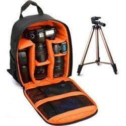 Waterproof Shockproof Anti-theft Unisex Digital SLR DSLR Camera Bag Soft Padded Backpack Suitable For Canon For Nikon orange