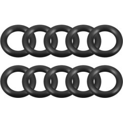 O-Rings Nitrile Rubber 15mm x 25mm x 5mm Seal Rings Sealing Gasket 10pcs
