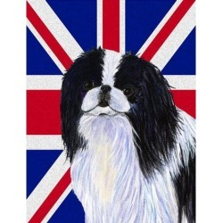 Japanese Chin with English Union Jack British Flag Flag Garden Size SS4909GF