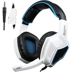 Sades SA920 Wired Stereo Gaming Headset Over Ear Headphones with Microphone for Xbox One / Xbox 360 / PS4 / PC /Cell phones / iPad(Black White)