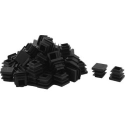 Unique Bargains 50 Pcs Antislip Plastic Square 16mm x 16mm Chair Foot Cover Table Furniture Leg Protector Black found on Bargain Bro India from Newegg Canada for $9.01