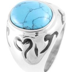 Unique Bargains US 9 Finger Decor Baby Blue Plastic Faceted Crystal Ring for Man