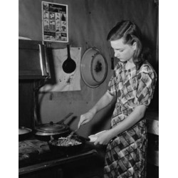 Posterazzi SAL9901965 Young Woman Cooking Food in the Kitchen Poster Print - 18 x 24 in.