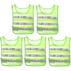 Reflective Mesh Design Security Vests for Jogging Traffic Safety Yellow 5pcs found on Bargain Bro India from Newegg Canada for $18.10