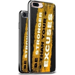LUXENDARY BE STRONGER THAN YOUR EXCUSES QUOTE DESIGN CHROME SERIES CASE FOR IPHONE 6/6S