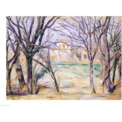 Posterazzi BALXIR393802LARGE Trees & Houses 1885-86 Poster Print by Paul Cezanne - 36 x 24 in. - Large