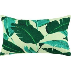 Green Leaves Throw Pillow Cover, Pattern Cushion Cover Cotton Plant Pillow Case Square Pillow Protectors Home Decorative for Sofa/Couch/Bed/Car(12 x.