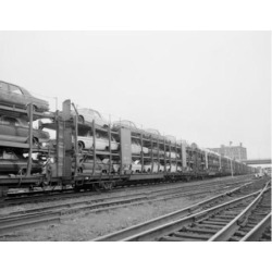 Posterazzi SAL255424829 USA Massachusetts Worcester Railroad Freight Cars with 1966 Automobiles Being Shipped Poster Print - 18 x 24 in. found on Bargain Bro Philippines from Newegg Canada for $53.76