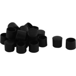 Unique Bargains 20 Pcs Antislip PVC Round 12mm Dia Chair Foot Cover Table Furniture Leg Protector Black found on Bargain Bro India from Newegg Canada for $7.83