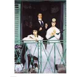 Posterazzi BALXIR967LARGE The Balcony Poster Print by Edouard Manet - 24 x 36 in. - Large