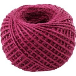 Holiday Decor Burlap Crafts Gift Wrapping String Ribbon Roll Fuchsia 50M Length