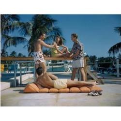 Posterazzi SAL291614591 Teenagers Having Fun at a Swimming Pool Poster Print - 18 x 24 in.
