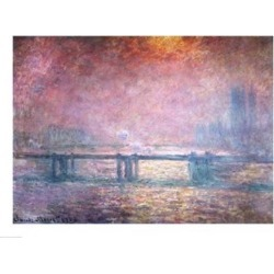 Posterazzi BALXIR57634LARGE The Thames at Charing Cross 1903 Poster Print by Claude Monet - 36 x 24 in. - Large