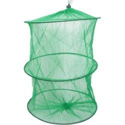 Unique Bargains 14.2' Portable Fishing Landing Net Fish Angler Mesh Keepnet for Fishermen Green