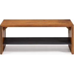 Offex 42' Solid Rustic Reclaimed Pine Wood Entry Bench - Amber
