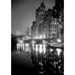 Posterazzi SAL255422519 USA New York City Night Scene at Central Park Poster Print - 18 x 24 in.