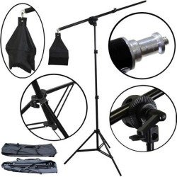 BlueDot Studio Photo Overhead Boom Light Stand 7 Stand Boom Arm 30-55' Arm NEW!