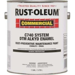 RUST-OLEUM 255550 1 gal. SAFETY YELLOW Glossy Oil Interior/Exterior Paint