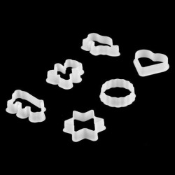 Home Kitchen Plastic Cake Biscuit Cookie Cutter Making Tool Mold Mould 6 in 1