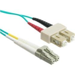 10 Gigabit Aqua Fiber Optic Cable, LC / SC, Multimode, Duplex, 50/125, 4 meter (13.1 foot)