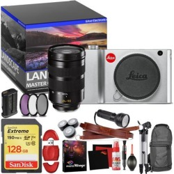 Leica TL2 Mirrorless Digital Camera (Silver) - Master Landscape Photographer Kit - Memory Card - Accessories with Leica SL 24-90mm f/2.8-4 ASPH. Lens