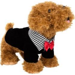 Tuxedo Dog Jacket (White/Black Tuxedo) (Large)